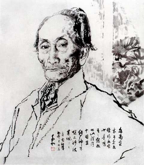 中国:蒋兆和先生的素描和中国画 - 契约婴儿 - 契约婴儿的博客